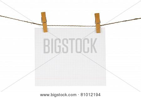 Suspended Sheet Of Notebook
