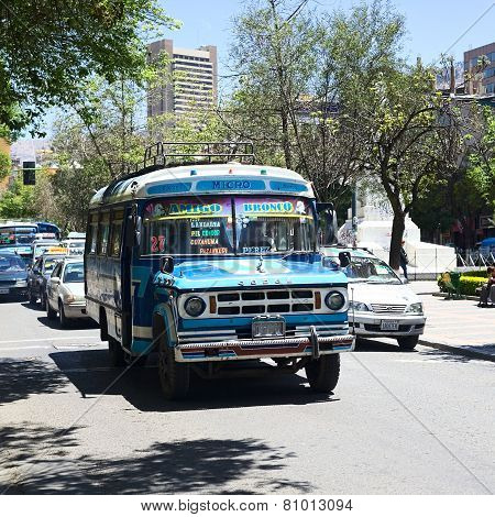 Old Dodge Bus in La Paz, Bolivia