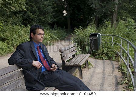 Businessman In Green Park.