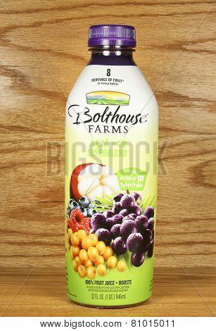 Bottle Of Bolthouse Farms Mango Superblend Juice