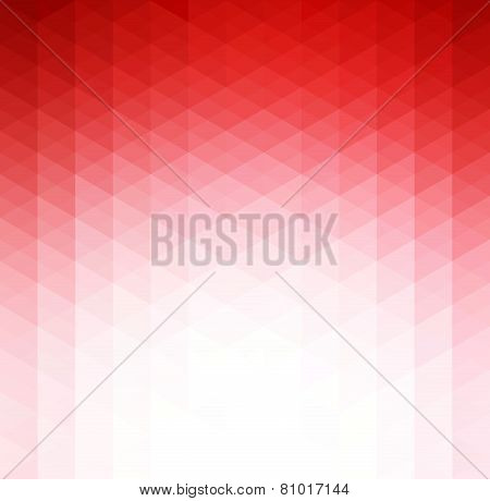 Abstract red geometric technology background