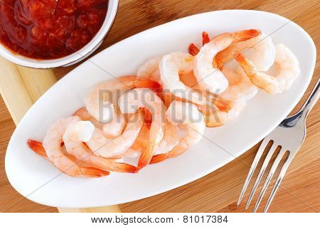 Shrimp with dipping sauce