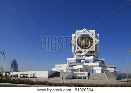 Ashgabat, Turkmenistan - October 15, 2014: Modern architecture of Ashgabat.