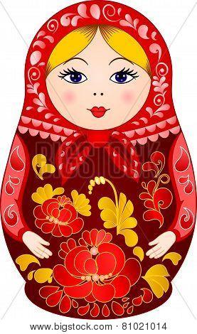 Matryoshka Doll in Khokhloma style