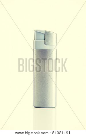 One separated useful silver lighter.