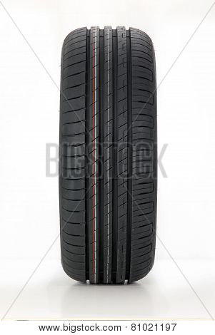 modern summer sports car tire