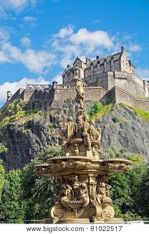 Edinburgh castle seen above