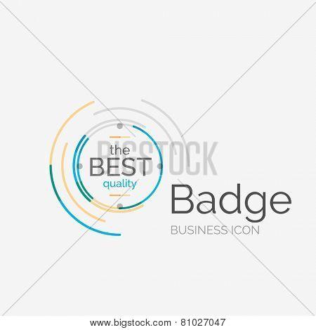 Thin line neat design logo, clean modern concept, premium quality stamp