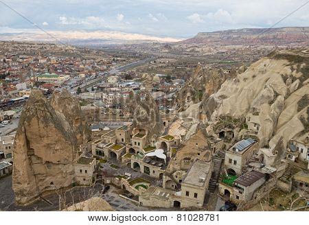 Town Goreme In Cappadocia, Turkey