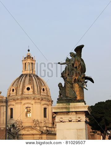 Church Dome and an Angel