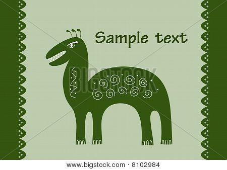 Dino Monster Green