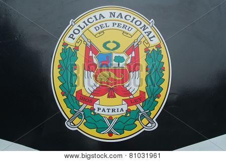 Symbol Of The National Police Of Peru