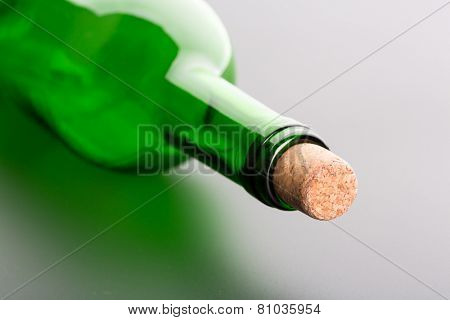Glass bottle close up