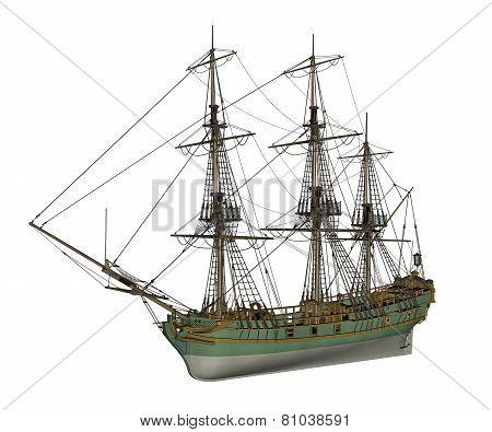 Aurora slave ship - 3D render