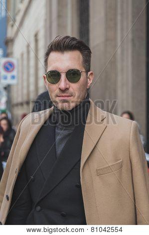 People Outside Cavalli Fashion Show Building For Milan Men's Fashion Week 2015