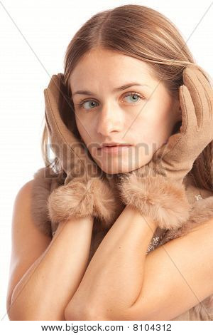 Woman In Gloves