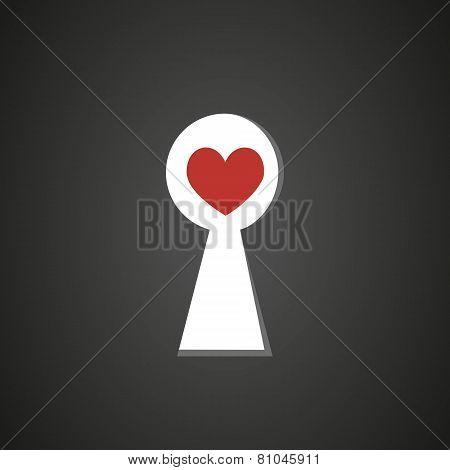 Keyhole with heart