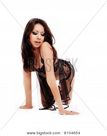 Modelo de lingerie sexy