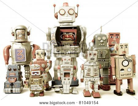 team of Robot toys