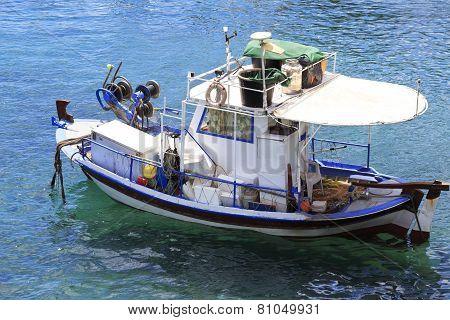 Fishing Boat in the Aegean Sea.