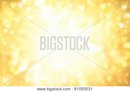 Abstract Hearts Lights Background