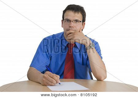 Businessman Signing A Contract.