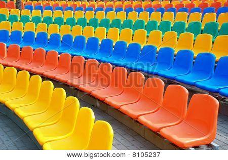 Empty Plastic Seats
