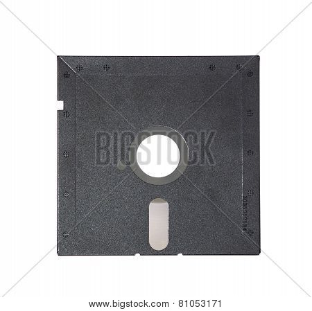 Old Disk On White Background.