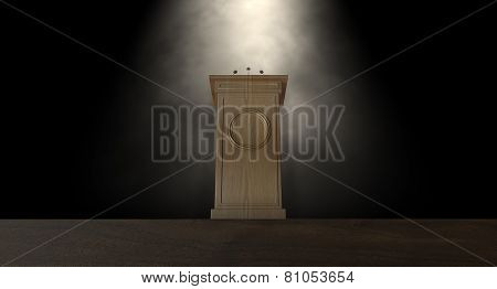 Spotlit Press Podium