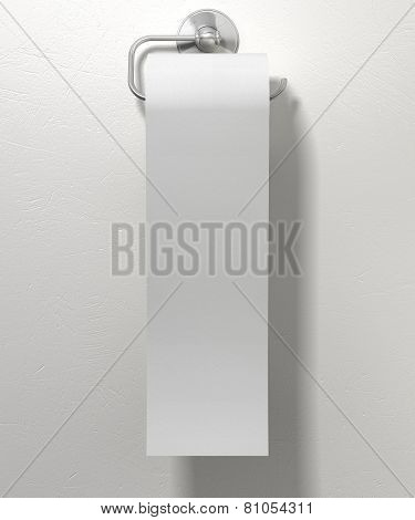 Toilet Paper Roll On Chrome Hanger