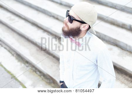Guy With Hat And Glasses