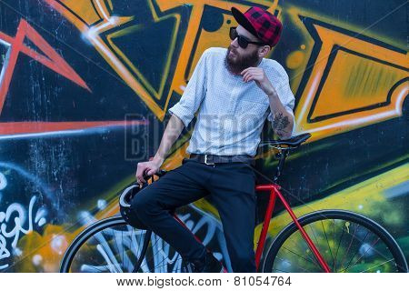 Guy With Bike