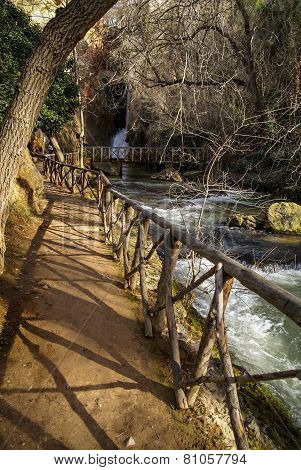 Waterfalls At Monasterio De Piedra, Zaragoza, Aragon, Spain