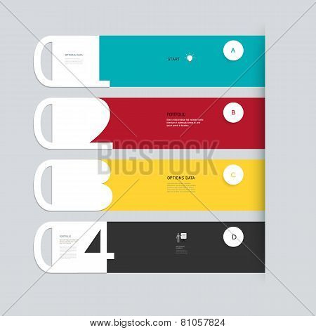 Minimal  Infographic With Numbers Step By Step Template