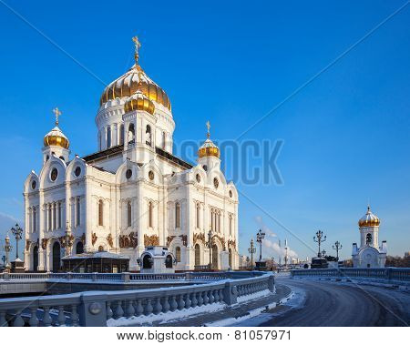 Church Of Christ The Savior In Moscow At Winter