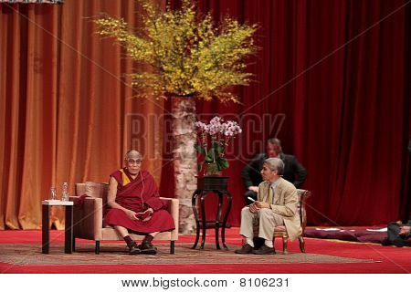 Dalai Lama in a conference