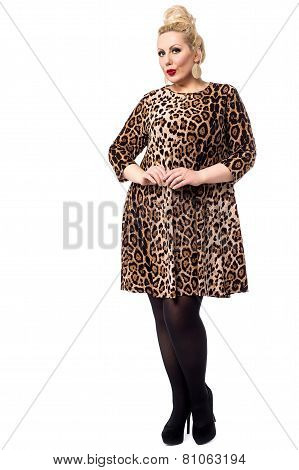 Woman in Leopard Dress