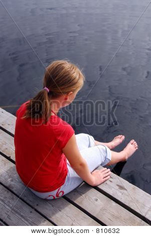 Child on dock