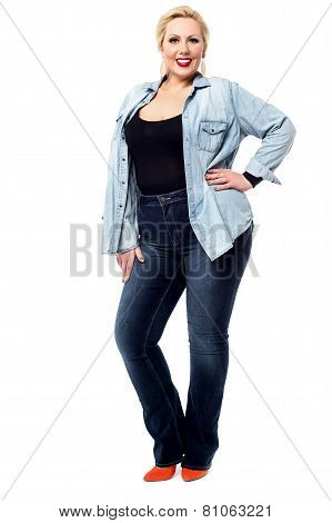 Young Woman Posing Stylishly