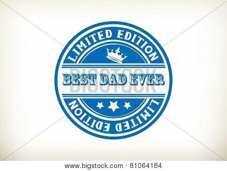 Best Dad- Stamp