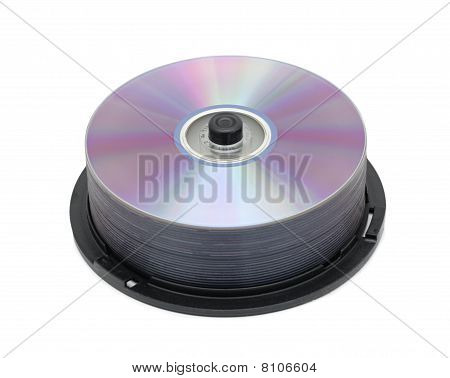 Cd/dvd Stack, Isolated