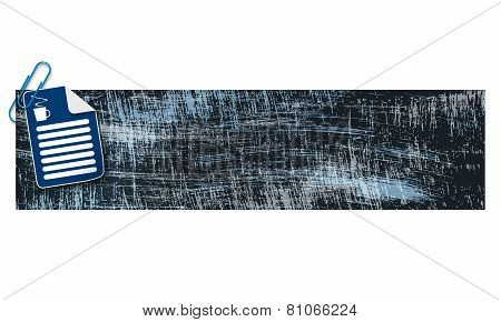 Banner and Scratches Background
