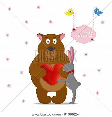 LOVE ME,romantic card