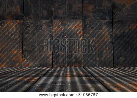 Dark Grungy Rusty Metal Room