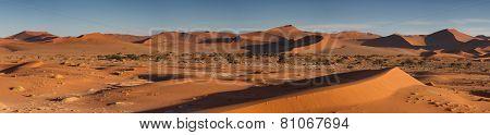 Panorama Of The Sossusvlei Dune Field