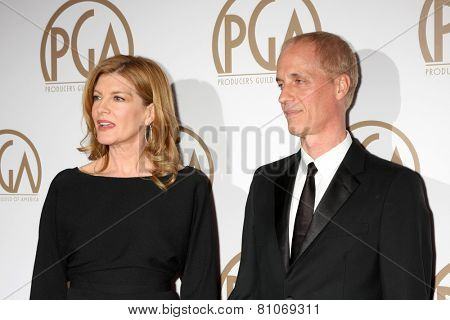 LOS ANGELES - JAN 24:  Rene Russo, Dan Gilroy at the Producers Guild of America Awards 2015 at a Century Plaza Hotel on January 24, 2015 in Century City, CA