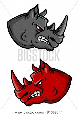 Cartoon rhino characters
