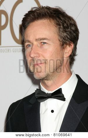 LOS ANGELES - JAN 24:  Edward Norton at the Producers Guild of America Awards 2015 at a Century Plaza Hotel on January 24, 2015 in Century City, CA