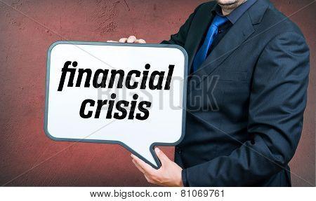 Financial Crisis Businessman