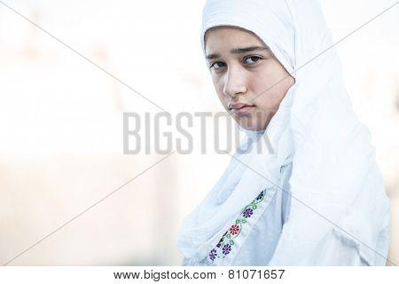 Arabic Muslim Middle Eastern girl